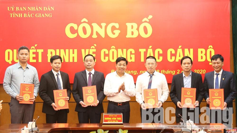 Bắc Giang: Công bố các quyết định về công tác cán bộ